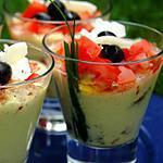 recette Verrines de courgettes et petits suisses façon provençale