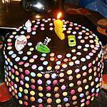 Gâteau D'Anniversaire Arc-En-Ciel