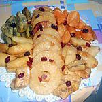 recette FRUITS  CARAMELISES  (UNE IDEE DE TATIE)