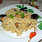 recette Linguine agli stampi (linguine aux moules)