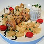 """recette Pilons de poulet """"créole""""(ananas, noix de coco et rhum)"""