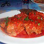 recette CARNA  LESSA  AL SUGO   E  TORTIGLIONI   (viande au bouillon sauce tomate)