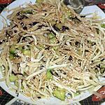 recette Salade de choux blanc à la Japonaise