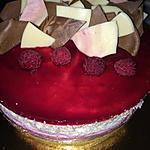 recette Entremet mousse framboise et chocolat blanc