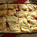Pizza crème fraiche ,jambon cru et Maroilles