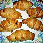 recette mini croissant au boursin et jambon