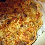 recette tarte choux fleurs,lardons thon;reste sauce foie gras;