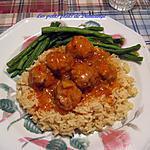recette Boulettes de porc , sauce aigre-douce