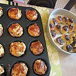 recette mini tourtes feuilletées aux champignons de véronique