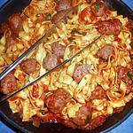 recette Saucisse de toulouse aux tagliatelles