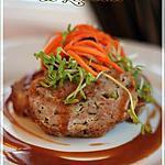 recette ~Pain de viande, sauce à l'ail~