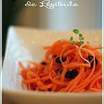 recette ~Salade de carottes râpées à l'orange et à la cannelle~