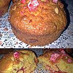 recette ~ Muffins noix de coco et pralines roses ~