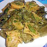 recette TORTELLONI   CON  PESTO  SEDANO MANDORLE