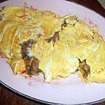 recette Omelette aux gésiers confits et champignons
