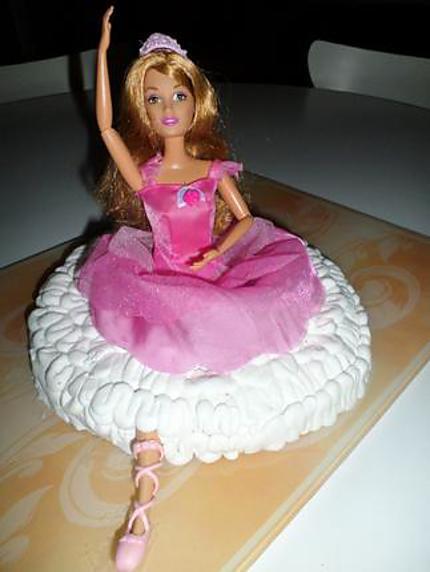 Gateau avec barbie