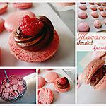 recette Macarons au chocolat noir et cœur de framboise