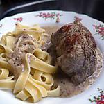 recette paupiettes de veau maison et sa sauce poivré Seb