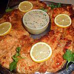 Escalope de dinde panée avec creme d anchois