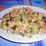 recette GNOCCHI  PESTO  SEDANO  GAMBERI E FUNGHI (crevettes et champignons)