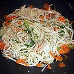 recette Nouilles udon aux légumes