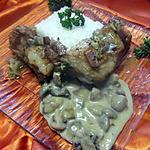 recette Poitrine de veau aux champignons avec sauce.