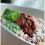 recette ~Spaghettis à la boulette géante~