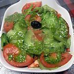 recette salade de tomates. concombre. au pesto au celeri de italmo.