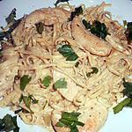 recette Linguines au poulet