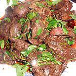 recette Foies de volaille aux épices