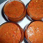 recette Verrines de poivrons