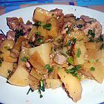 recette SPEZZATINI  DI   MAIALE  SEDANO   E  PATATE (sauté de porc céleri et pommes de terre)
