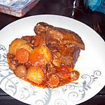 recette Boeuf en sauce et legume
