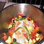 recette Longe de porc aux legumes