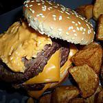 recette Burger à la créme de cheddar fondu