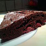 recette Fondant au chocolat noir et framboises