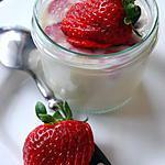 recette Fraises au lait d'amande