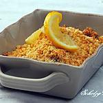 recette Crumble de poisson citronné & gingembre