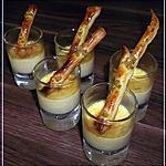 recette Crème de maroilles et son petit croustillant au pistache