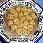 recette POLPETTINE  DI   PANE  IN  BRODO (boulettes de pain au bouillon)