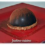 recette Dôme mousse au chocolat