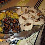 recette roti farçi aux figues foie gras;;et abricots  blog de greg paq,, ;;pommes de terre farcies ss  viande d italmo  ;et champignons aux légumes