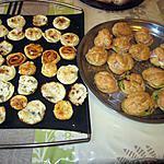 recette plateau apéritif  chouquettes   de   mirabelle::toasts  variés  certains avec du babybel;;  de qui!!!