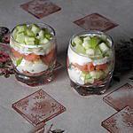 recette Verrines apéritives au saumon et chèvre frais