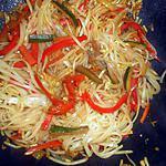 recette Nouilles de riz sautées aux légumes