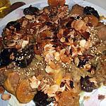 recette Tajine de jarret de veau aux pruneaux et abricots