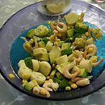 recette salade avocats-langoustines