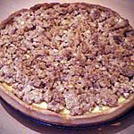 recette Gâteau aux pommes crumble spéculoos cerneaux de noix (streusel)