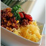 recette ~Chili rapide et courge spaghetti~