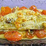recette Poisson blanc à la crème de crevettes et carottes
